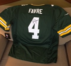 Favre jersey before framing