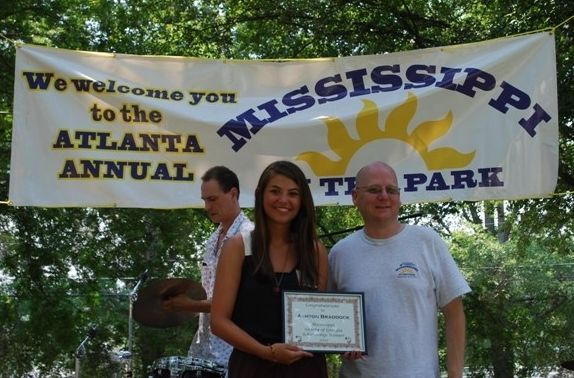 Ashton Braddock accepting the 2012 scholarship