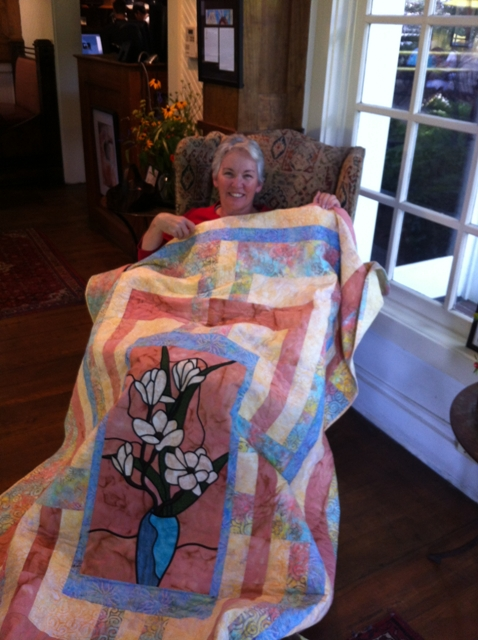 Jimmie Turnage and the 2012 Mississippi prize quilt